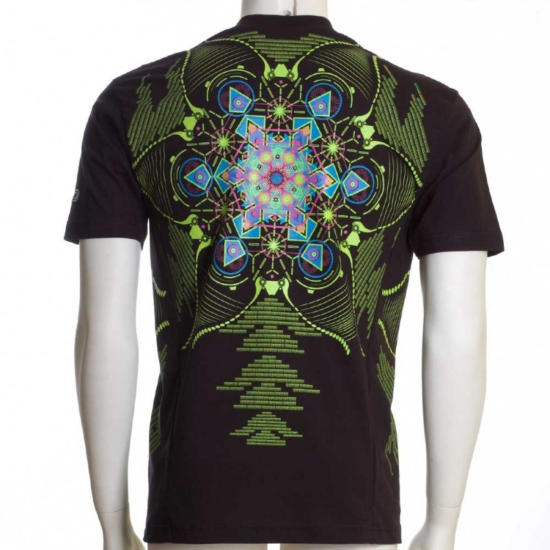 "T-shirt UV ""Aquatic\"", Noir"