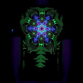 """T-shirt UV \""""Aquatic\"""", Noir"""