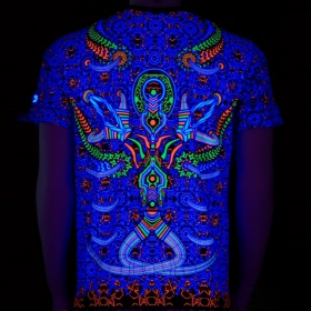 """T-shirt UV \""""Brain challenger\"""", Noir"""