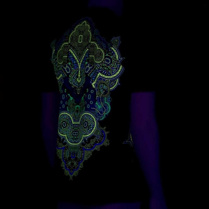 "T-shirt UV \""Incarnation\"", Noir"