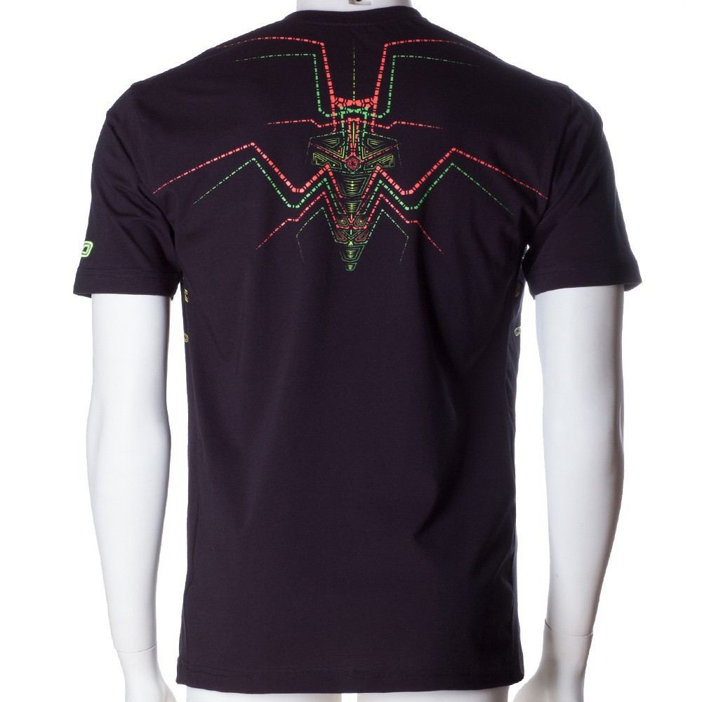 "T-shirt UV ""Lotus\"", Noir"