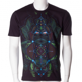 "T-shirt UV \""Multidimensional\"", Noir"