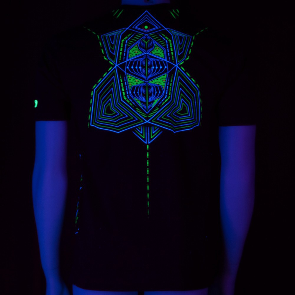 "T-shirt UV ""Multidimensional\"", Noir"