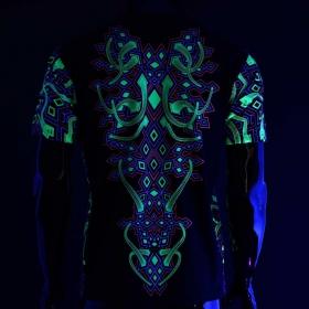 """T-shirt UV \""""Rhombus\"""", Noir"""