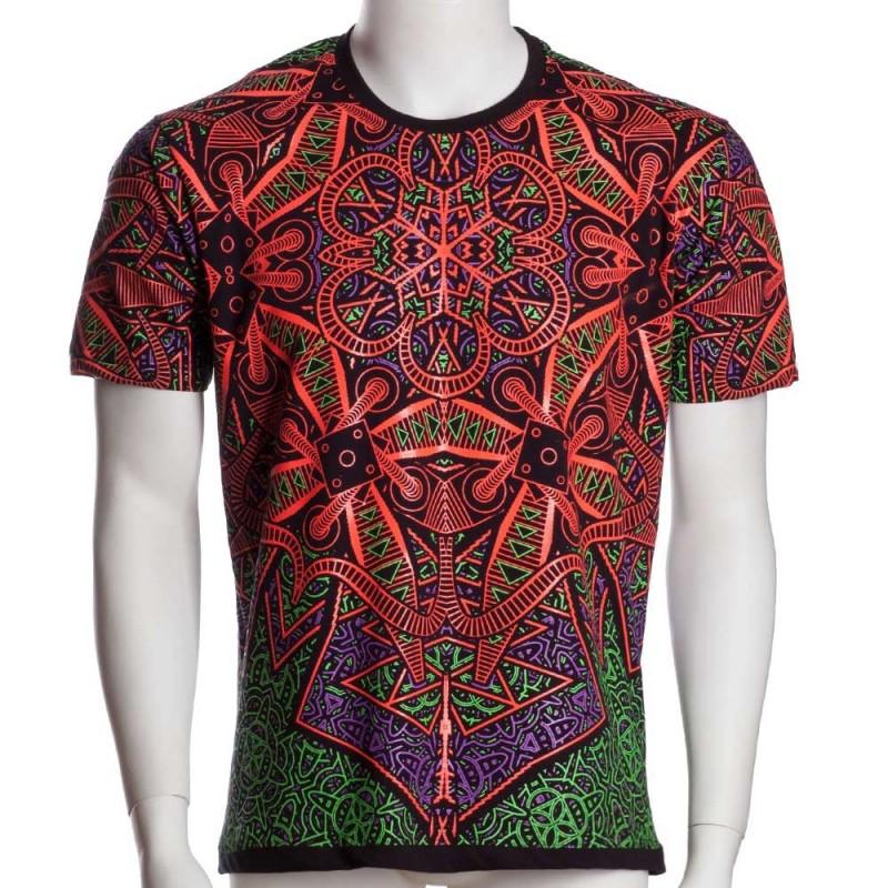 "T-shirt UV \""Vortex\"", Noir"