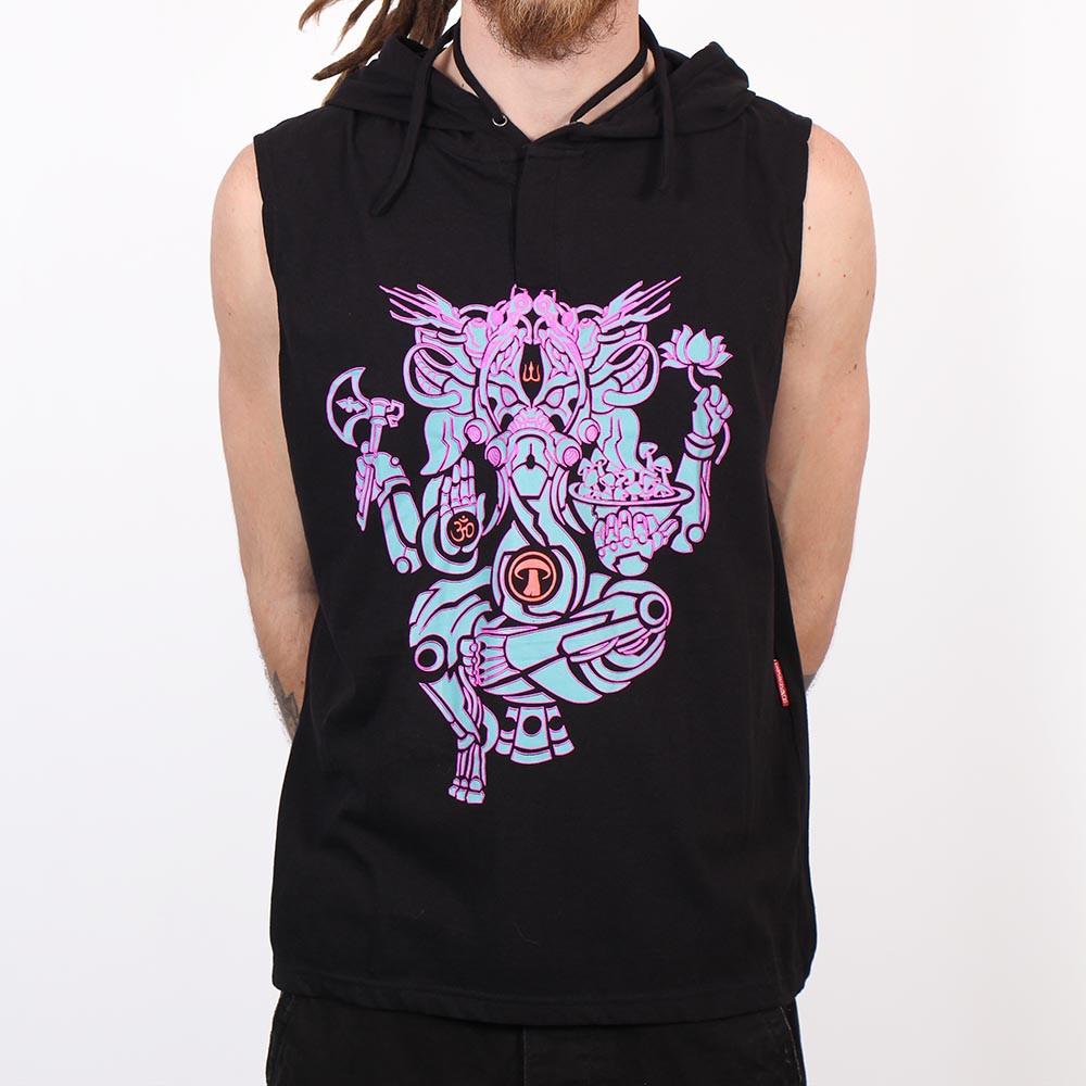 """Tee Shirt Shaman \""""Ganesh Psylo\"""", Noir"""