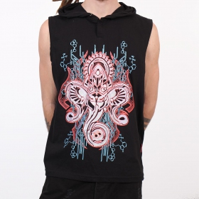 "Tee Shirt Shaman \""Molecules Cyber Ganesh\"", Noir"