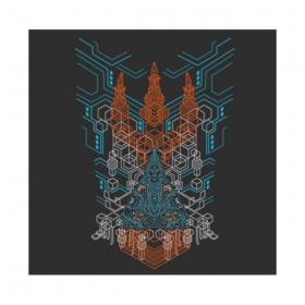 """Tee Shirt Shaman \""""Trishula 3D\"""", Noir"""