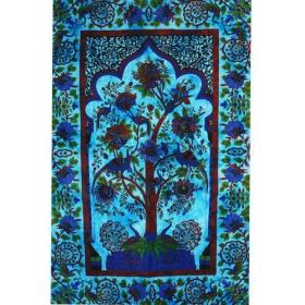 Tenture \\\'\\\'Eden Garden\\\'\\\', Bleu