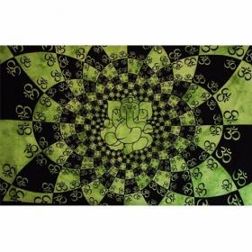 Tenture \\\'\\\'Ganesh many Ohm\\\'\\\', Vert