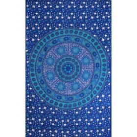Tenture \\\'\\\'Sun Moon Mandala\\\'\\\', Bleu