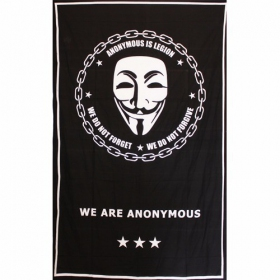 "Tenture \\\""Anonymous\\\"", Noir"