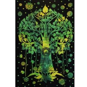 "Tenture \""Arbre de Bouddha\"", Vert et noir"