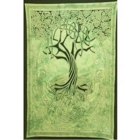 """Tenture \""""Arbre de Vie celtique\"""", Vert"""