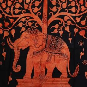 """Tenture \""""Elephant\"""", Orange"""