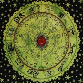 "Tenture \\\""Horoscope\\\"", Vert"