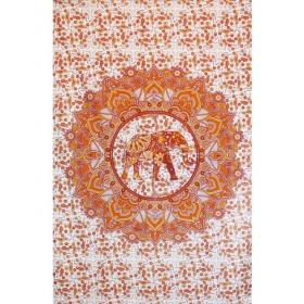 "Tenture \\\""Mandala Elephant haathee\\\"", Orange"