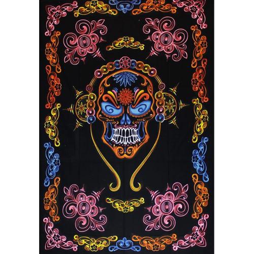 """Tenture \""""Mexican Skull\"""", Multicolore"""