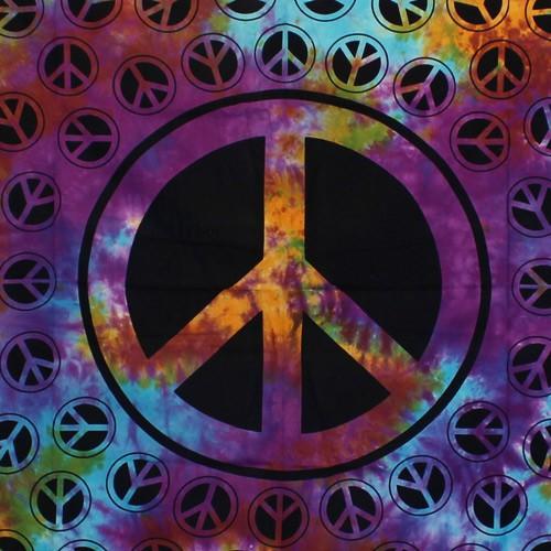 """Tenture \""""Peace\"""", Multicolore"""