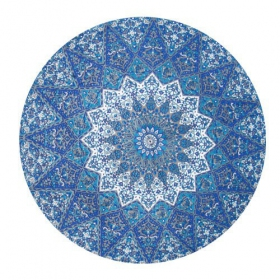 "Tenture \\\""Roundie Indian Mandala \\\"" Bleue"