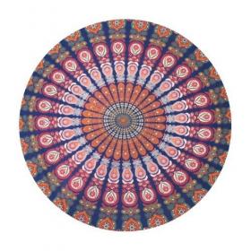 """Tenture \\\""""Roundie Mandala\\\"""" Multicolore"""