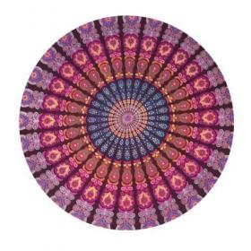 """Tenture \\\""""Roundie Mandala\\\"""" Violet"""