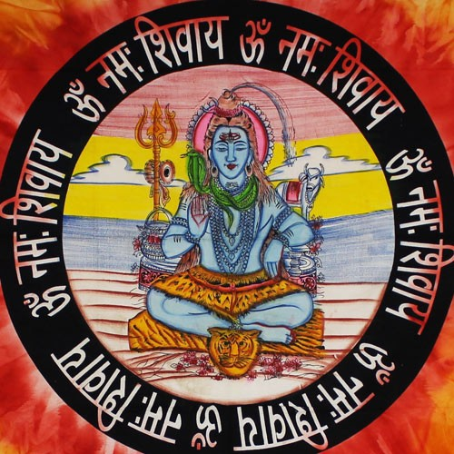 "Tenture \""Shiva\"", Orange"