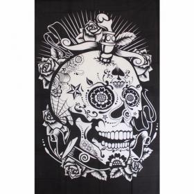 "Tenture \\\""Skull Circus\\\"", Noir"
