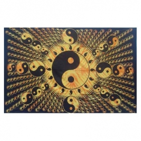 "Tenture \\\""ying yang special\\\"" 1,40 x 2,20 m"