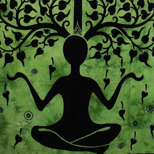 "Tenture \""Yoga Tree Man\"", Vert"