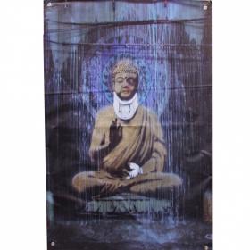 "Tenture/bâche \\\""injured buddha\\\"" by banksy"