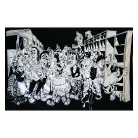 Tenture panoramiks noir et blanc 1.40m x 2.20m