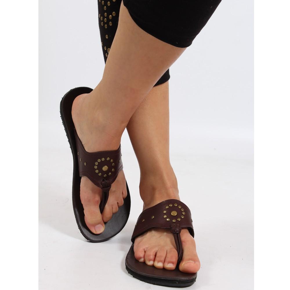 tong en cuir rata marron fonc taille 36 femme chaussures sandales bottes. Black Bedroom Furniture Sets. Home Design Ideas