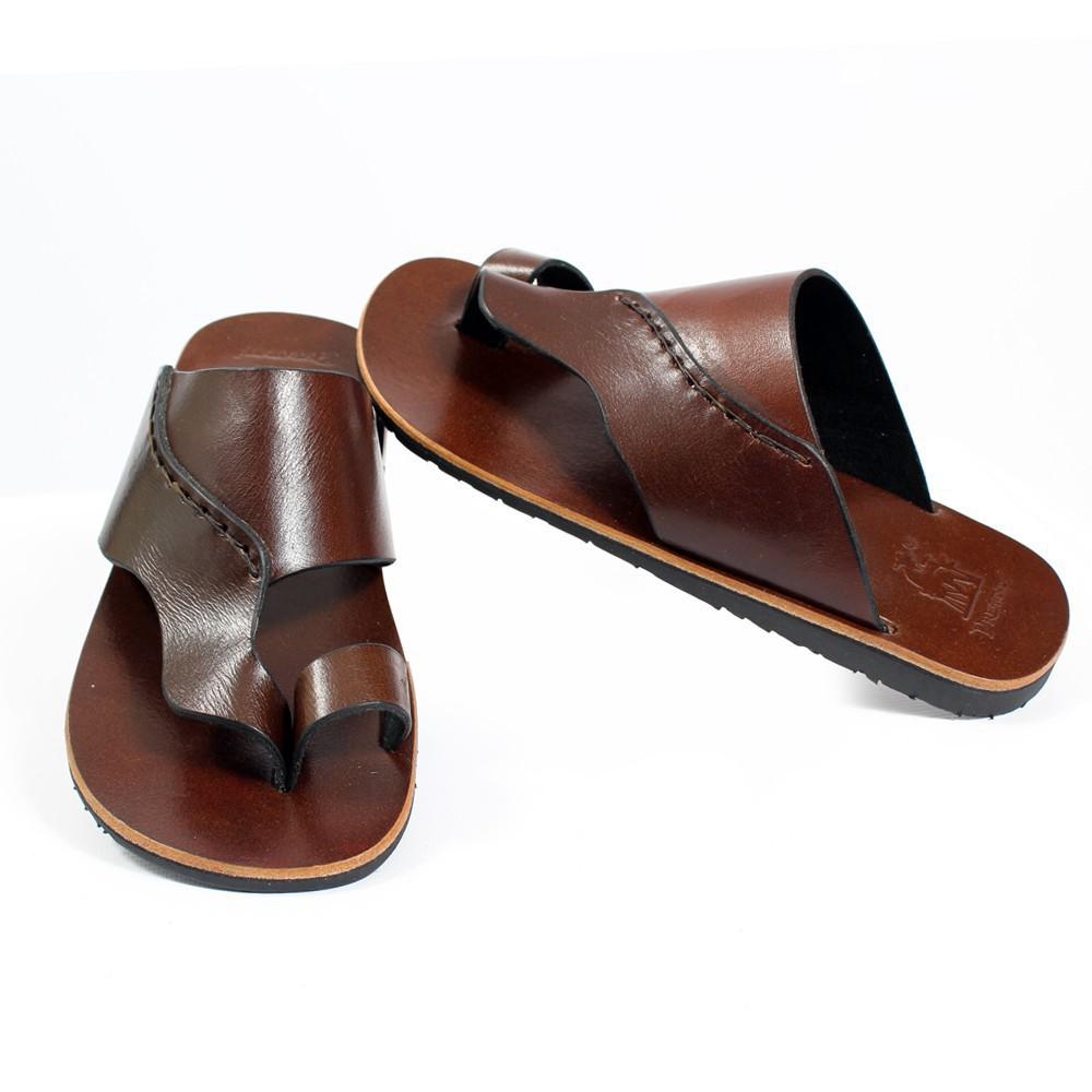 tong en cuir gunjan marron fonc taille 41 homme chaussures. Black Bedroom Furniture Sets. Home Design Ideas