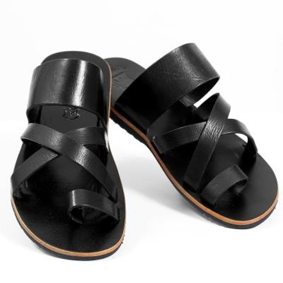 tong en cuir nagai noir taille 36 homme chaussures. Black Bedroom Furniture Sets. Home Design Ideas