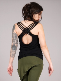 "Top ""Sacred Geometry\"", Noir"
