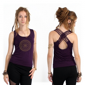 "Top \""Sacred Geometry\\\"", Violet"
