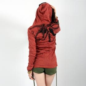 Top capuche \\\'\\\'Octopus\\\'\\\', Rouge foncé