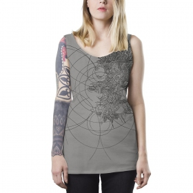 "Top capuche PlazmaLab ""Muza\"", Gris clair"