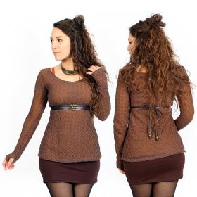 """Top doublure crochet \""""Alchemÿa\"""", Rouille"""