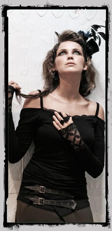 """Top fairy floss \\\""""temptress\\\"""", noir"""