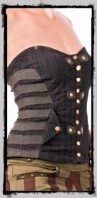 "Top fairy floss \\\""underground corset\\\"", olive"