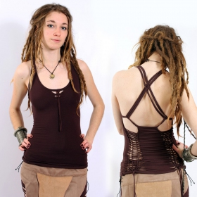 "Top Liloo ""Back Cut\"", Marron"