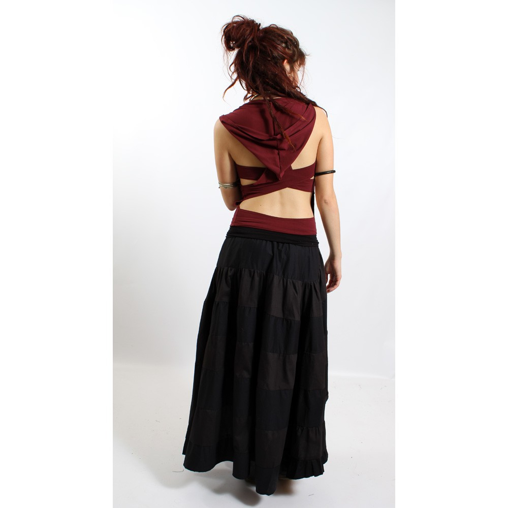 """Top liloo \\\""""lace\\\"""", rouge foncé-noir"""
