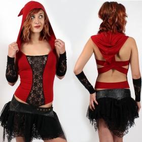 """Top liloo \\\""""lace\\\"""", rouge-noir"""