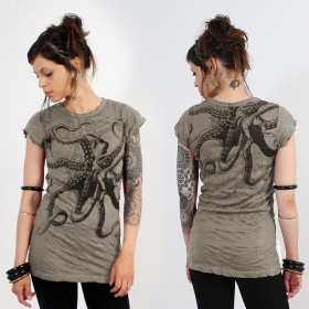 Top long \\\'\\\'Octopus\\\'\\\', Taupe