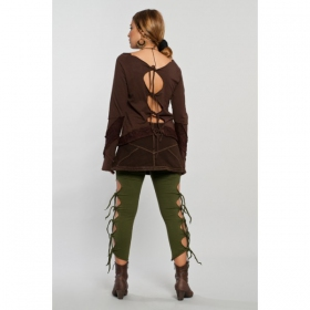 "Top Luna ""Elfin open back\"", Marron"