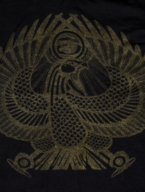 """Top manche courte \""""Horus\"""", Noir"""