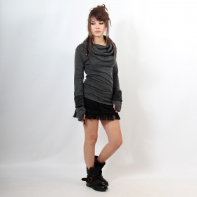 "Top sweat Witch ""Chayan\"", Gris uni"