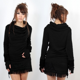 "Top sweat Witch ""Chayan\"", Noir uni"
